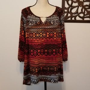 Cato Patterned Blouse